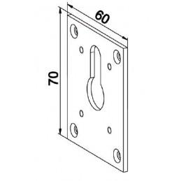 Plaque embase 70x60 Blanche pour SDC à 45 ° D560Manivelles de 12ZURFLUH-FELLER